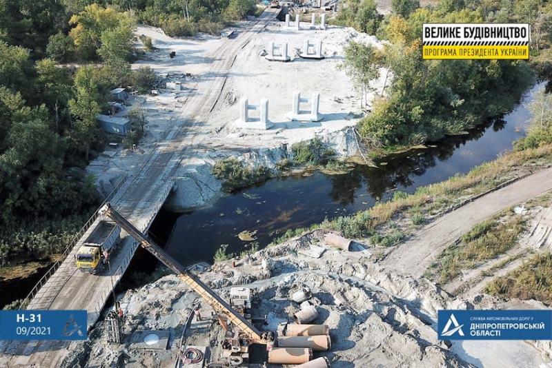 естакада, ріка Оріль, Дніпропетровська область, магістраль Н-31, Дніпро-Решетилівка, мостовики, спорудження дороги, дорога