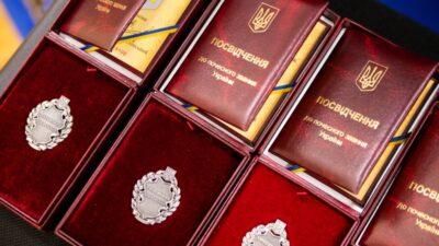 Жителей Днепропетровской области отметили государственными наградами (фото)