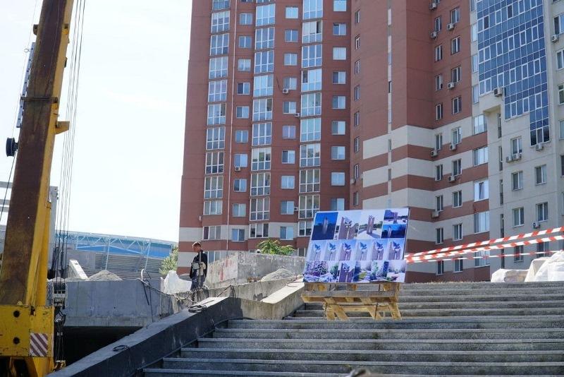 пам'ятний знак досягнень ФК Дніпро